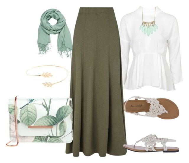 """""""Hijab Outfit"""" by le-hijab-de-doudou ❤ liked on Polyvore featuring Topshop, EAST, Ted Baker, Alexis Bittar, maurices and Accessorize"""