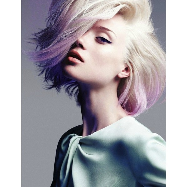 Platinum and Purple Pastel Hair Color