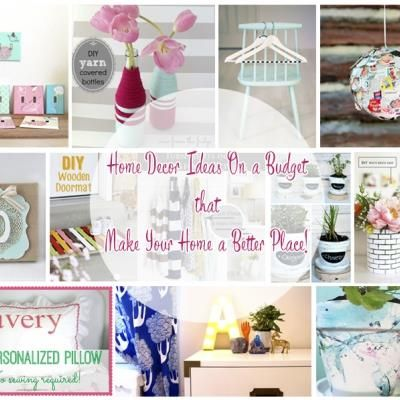 Revamping your home decor sound like a huge project but you don't always have to spend a king's ransom to do it! Ideas that call for a little imagination, and little money, add ins...