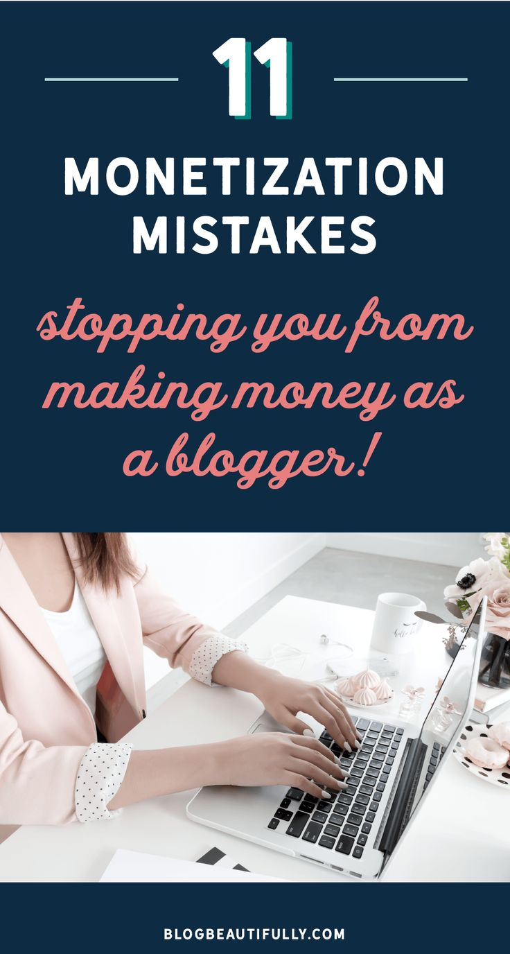 Are these 11 mistakes stopping you from making money as a blogger?! Click through to learn what they are, plus how to fix them so you can finally start earning from your blog! via Blog Beautifully