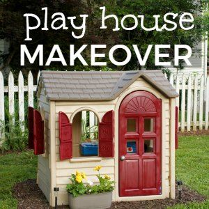 Got an old faded plastic play house? Make it look amazing again! This Little Tikes House makeover will make any plastic toy look like brand new!
