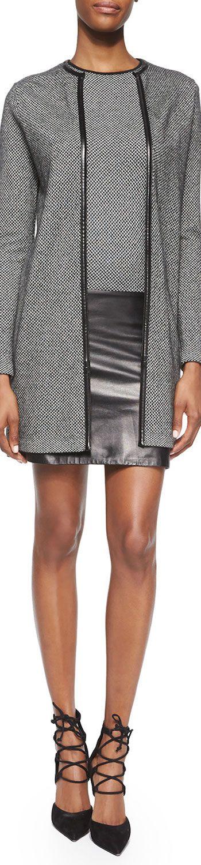 Ralph Lauren Black Label Cashmere Open-Front Long Cardigan