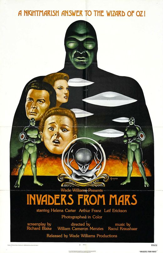 invaders from mars (b version) movie poster 1953