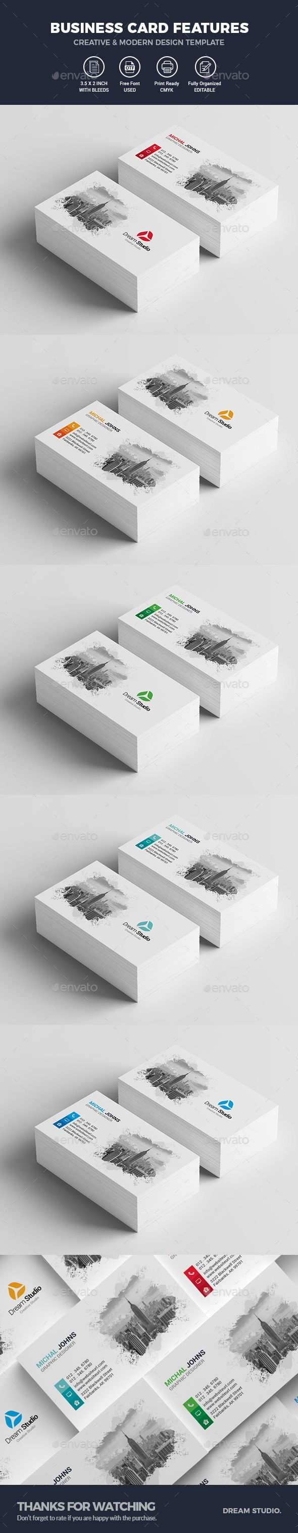 Business Cards — Photoshop PSD #name cards #blue • Download ➝ https://graphicriver.net/item/business-cards/19864491?ref=pxcr