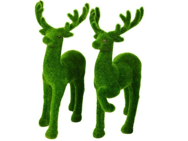 B0435 - Male & Female Christmas Reindeer Artificial Grass Animal Statue - 1 - B0435 - Male & Female Christmas Reindeer Artificial Grass Animal Statue - 1.jpg