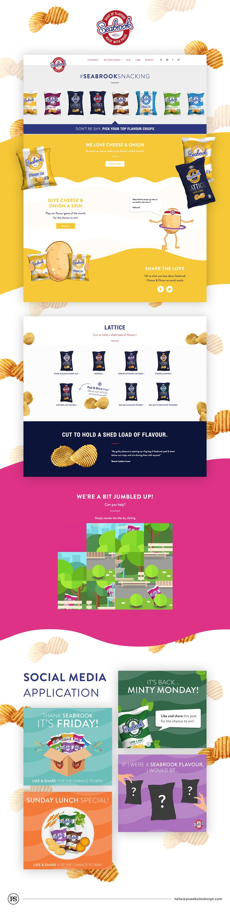 We are very happy to have worked with Seabrook Crisps on this website redesign project and we're super excited for what we have planned with them in the future.