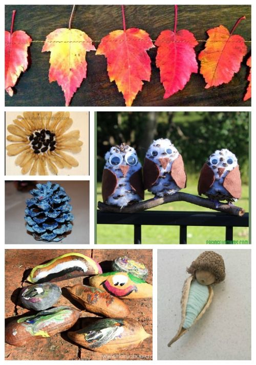 Beautiful & easy nature crafts that kids will love to create!