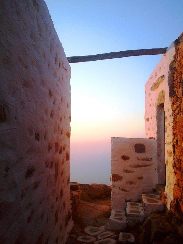 Sunset at Sikinos, summer, Greece