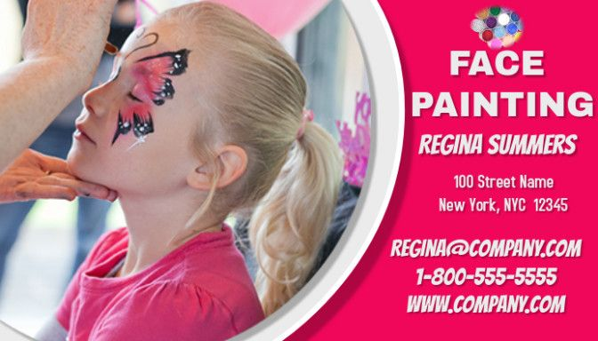 9 Facts You Never Knew About Face Painting Business Face Painting Business Face Painting Face Painted Business Cards