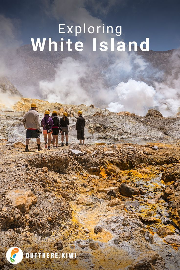 With a distinctive white plume that's visible from as far away as Mount Tarawera almost 100km to the west, White Island is New Zealand's most active volcano.