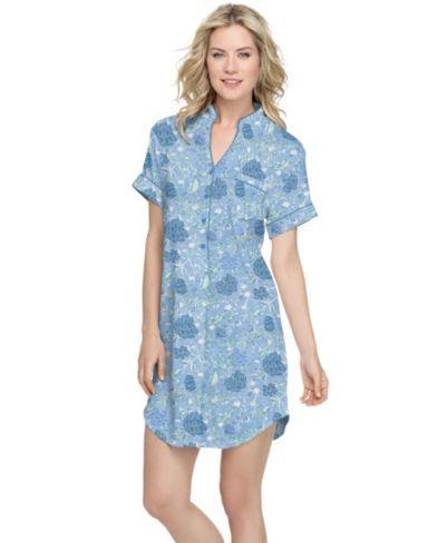 Blue Floral Nightshirt
