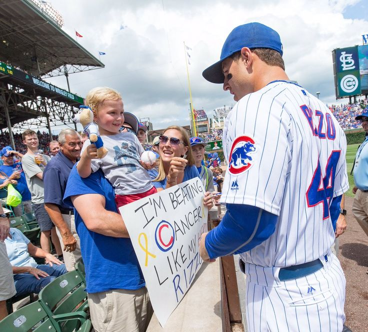 Chicago Cubs (@Cubs) | Twitter... Omg this is so sad but it is amazing that this kid looks up to Rizzo like this!