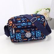 Bolso de hombro de nylon impermeable con cremallera de color sólido para mujer, bolso bandolera para mujer, bolso de viaje impermeable para mujer