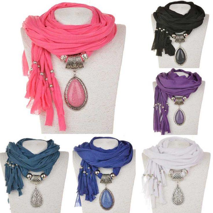 шикарный воды капли кристалл подвески надежном шарф на шею богемное шаль ожерелье ювелирные изделия in Украшения и часы, Модная бижутерия, Ожерелья и кулоны | eBay