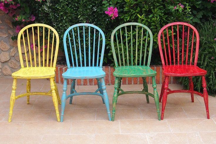 72 mejores im genes sobre sillas pintadas en pinterest for Sillas comedor retro