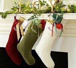 Christmas Stockings, Tree Skirts & Stocking Holders | Pottery Barn