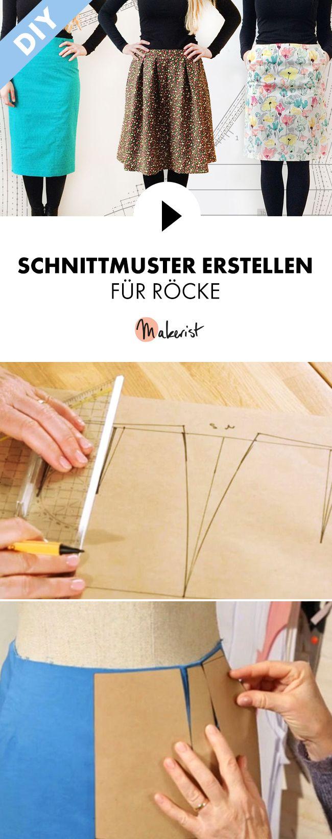 Schnittmuster für Röcke erstellen – Schritt für Schritt erklärt im Video-Kurs via Makerist.de – Midorikawa W.