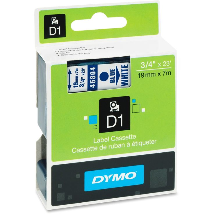 Dymo D1 Standard 19mm - 1 Each - Blue