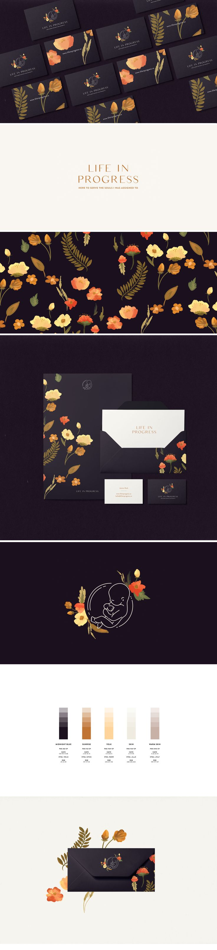 Life in Progress Brand Identity by Cocorrina