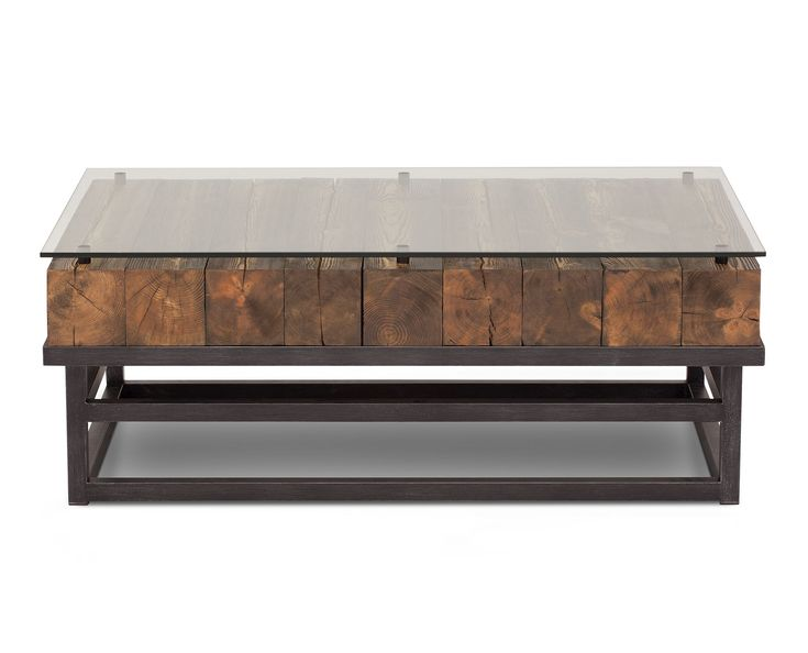 Rustic yet sophisticated, the Lost City coffee table features solid pine timbers combined with tubular steel and classic tempered glass.   #LivingRoomDecor #FurnitureRowStyle