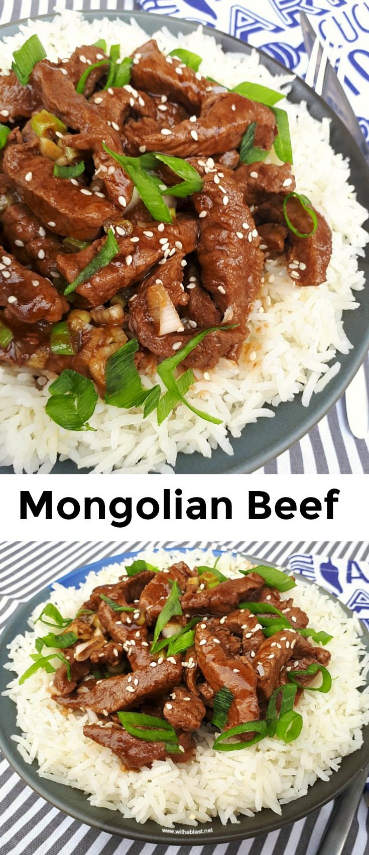 Mongolian Beef Only Takes 15 Minutes And Is A Delicious Dinner Beef Strips Covered In A Thick Recipes With Beef Strips Mongolian Beef Recipes Yummy Dinners