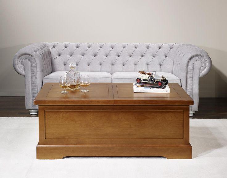 table basse bar jrome en chne massif de style campagnard finition chene moyen dernier modele - Table Basse Blanc Style Marin