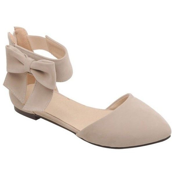 Elegant Bow and Zipper Design Flat Shoes For Women ($23) ❤ liked on Polyvore featuring shoes, flats, zip shoes, flat heel shoes, zipper shoes, flat pumps and bow flats