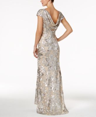 071d2552e74 Calvin Klein Embellished Cowl-Back Gown in 2019 | Products | Mother ...