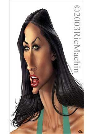 Ric Machin Caricatures....Demi Moore