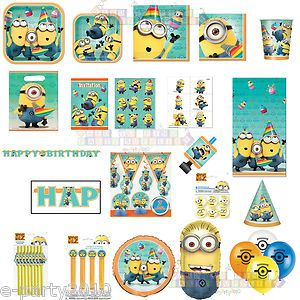Despicable Me 2 Two Minions Birthday Party Supplies Pick 1 or Create Set | eBay
