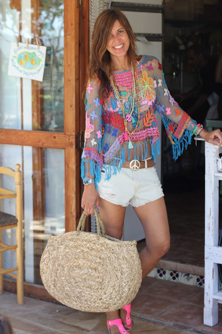 Great summer boho fringe top! mytenida en ibiza