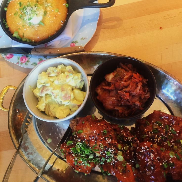 Korean fried chicken from the honey paw in portland maine
