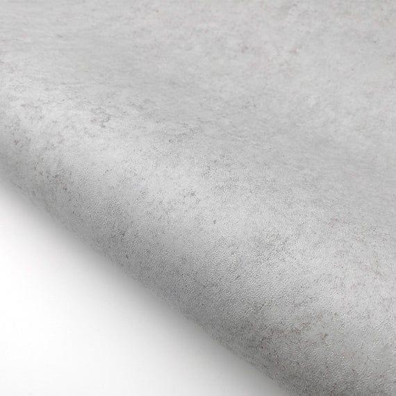 Concrete Cement Look Wallpaper Gray Interior Film 24 X Etsy Peel And Stick Wallpaper Concrete Cement Revamp Furniture