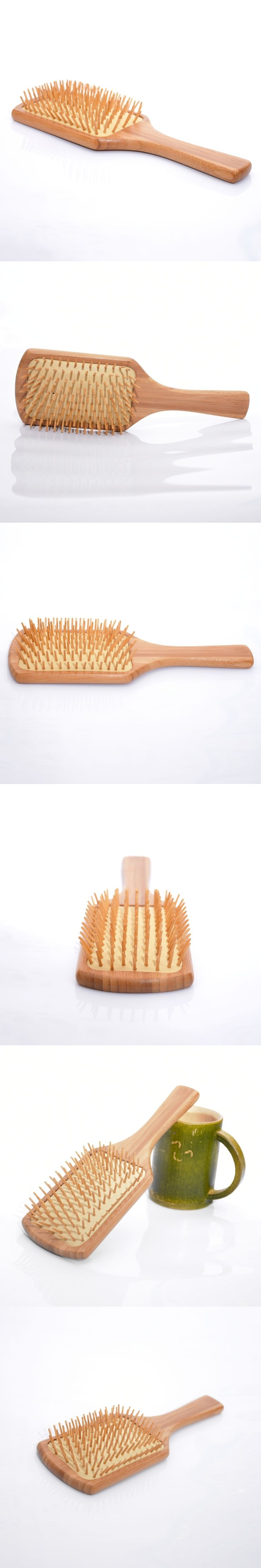 Fashion Wooden hair brush Air bag massage Bamboo hair comb anti-static brush comb S22D5