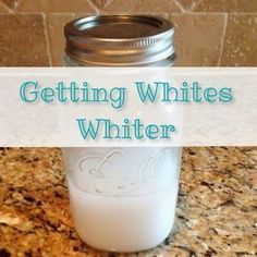 1/2 cup each hydrogen peroxide, baking soda, and water. Gets Dingy White Clothes White Again by Cinnamonrane
