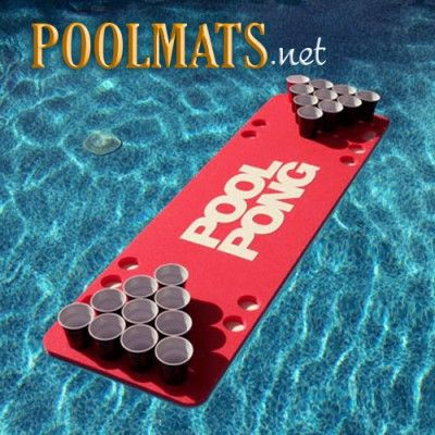 Floating Beer Pong Table | Foam table floats so you can play pong in the pool