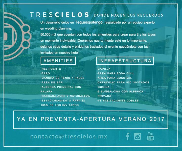 """Jardin de Eventos """"Tres Cielos"""" Destino de tu Boda, """"Tres Cielos"""" Tequesquitengo, México."""
