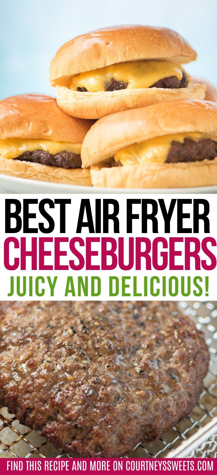 This is the best ever air fryer burger! our air fryer