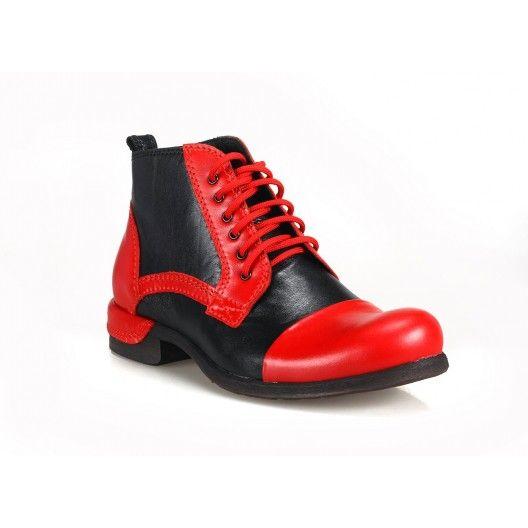 Čierno červené talianske pánske topánky COMODO E SANO - fashionday.eu