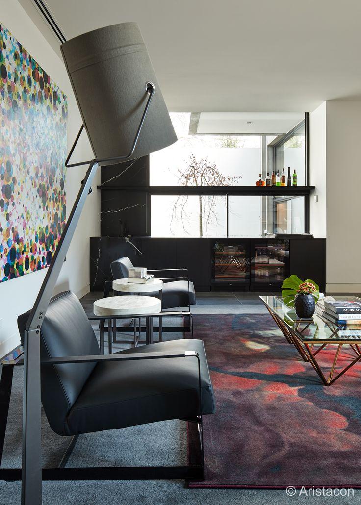 Dark interior, Home Bar in Cloverdale Ave, Toorak | by KAYSTONE, AUSTRALIA