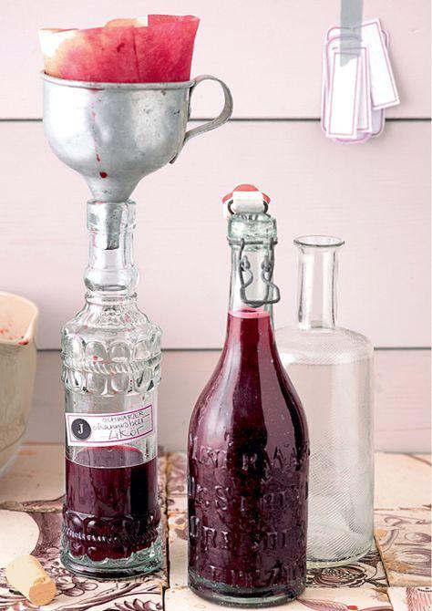 Fruchtlikör aus Beeren wie Johannisbeere könnt ihr ganz einfach selber machen. Alles, was ihr zusätzlich braucht ist Zimt, Zucker und Vodka.