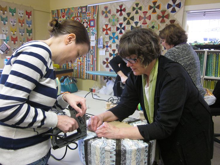 Footstool Class? Check! | Sheila Sinclair Snyder's License to Quilt