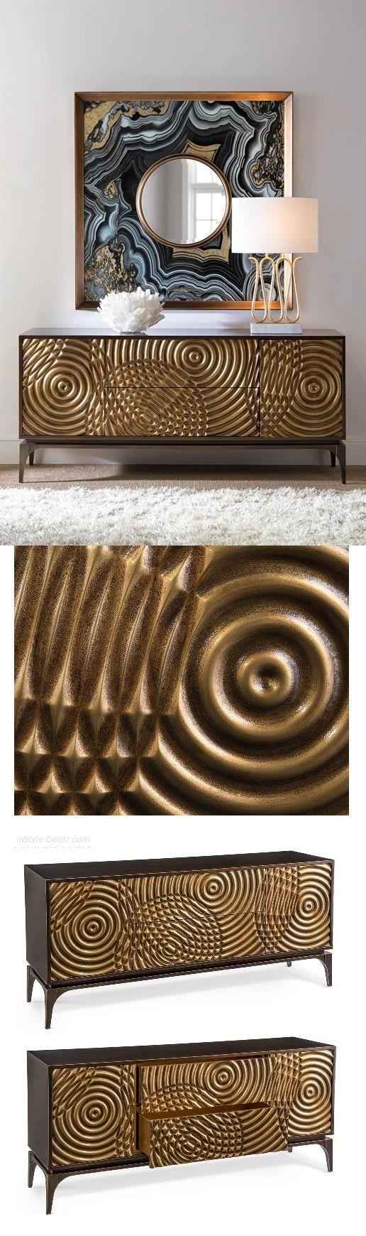 Messing Sideboard Wohndesign | Wohnzimmer Ideen | BRABBU | Einrichtungsideen | Luxus Möbel | wohnideen | www.brabbu.com