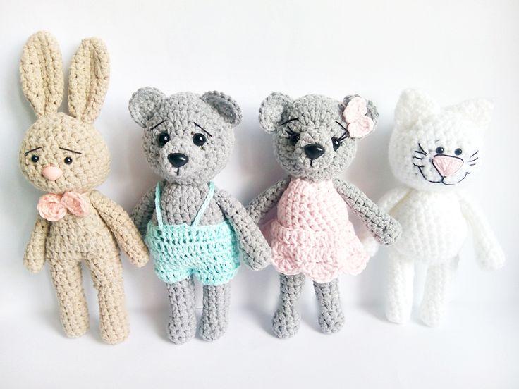 szydełkowe maskotki, crochet teddy bear