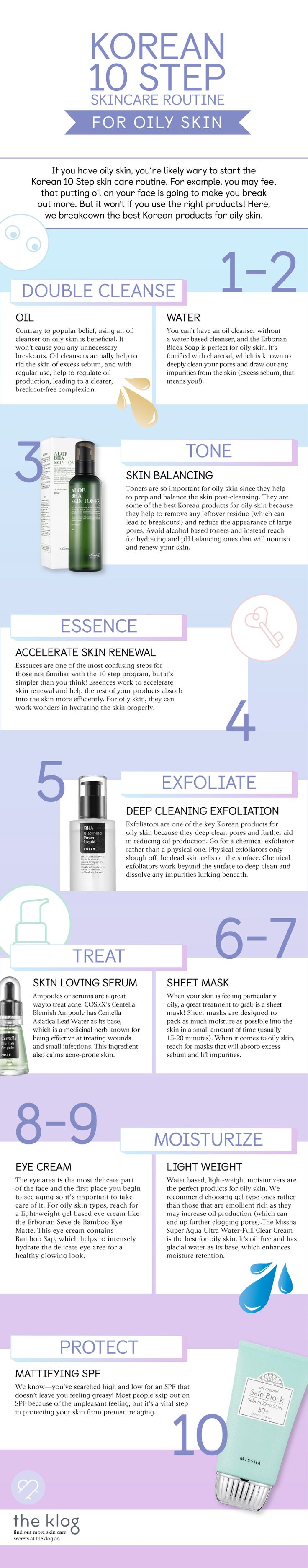 The Korean 10 Step Routine for Oily Skin
