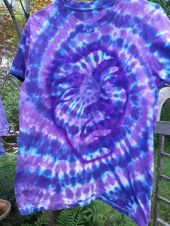 Jimi Hendrix Shirt Purple Haze Floating Psychedelic Purple Tie