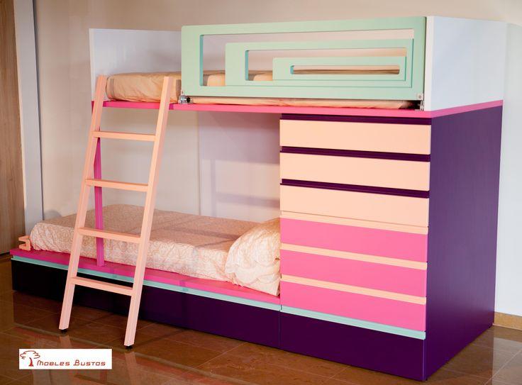 #Muebles a todo color para el #dormitorio de los más pequeños.