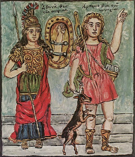 Athena and Artemis / Circa 1927-1934 / Oil on canvas