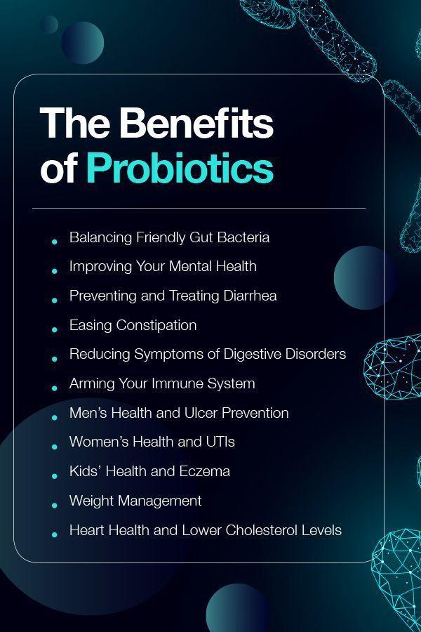 Benefits Of Probiotics The Benefits And Promise Of Probiotics For Men Women Children And Babies How Can Probiotic Benefits Probiotics Probiotics For Men