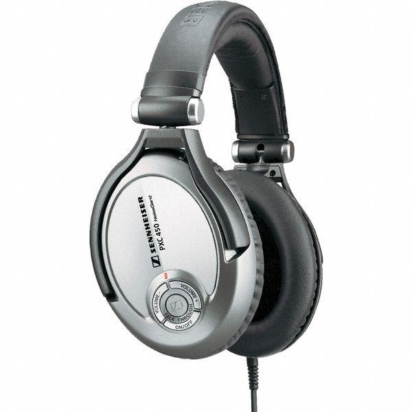 Sennheiser PXC 450 - a circumaural high-end travel headphone set with NoiseGard™ 2.0 technology and TalkThrough function.